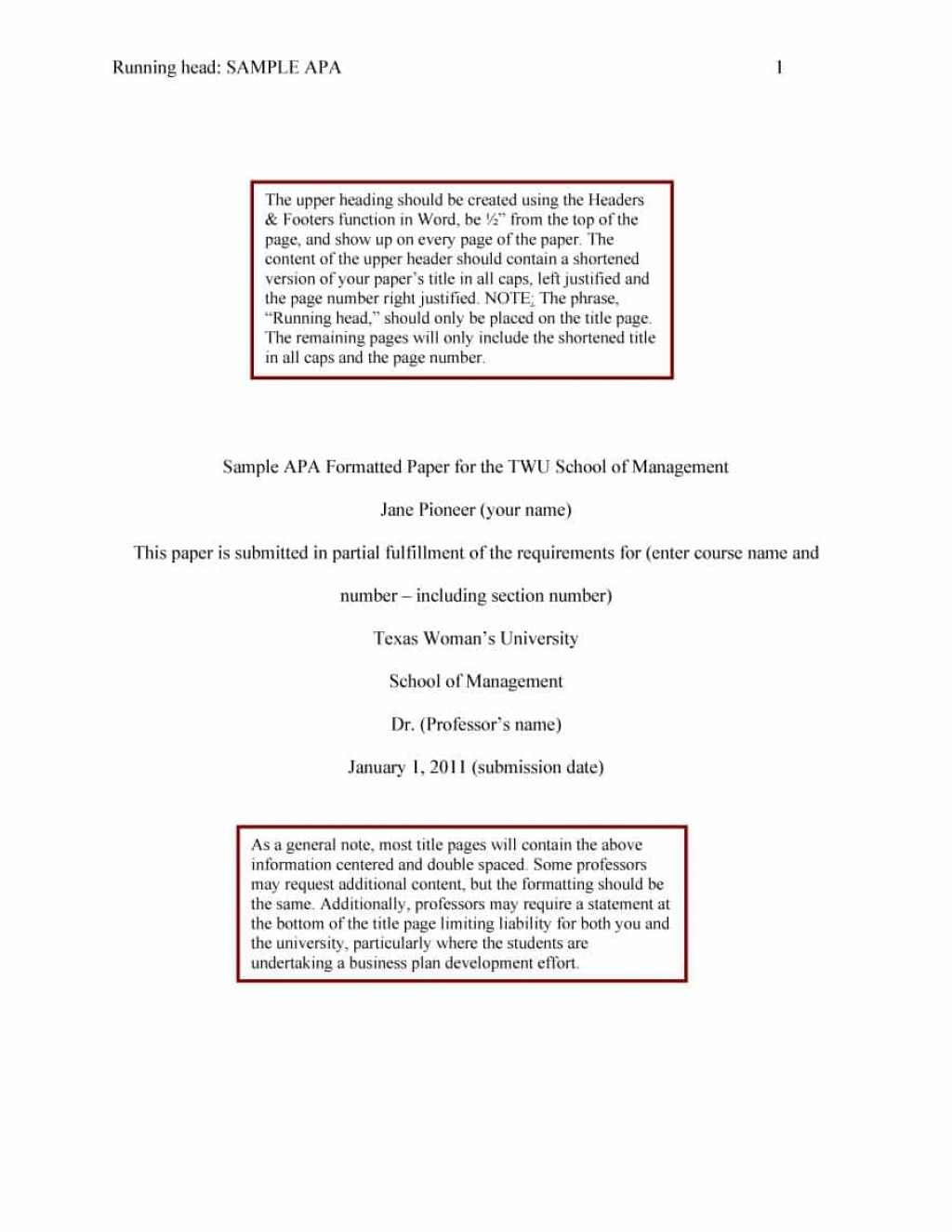 019 Apa Format Essay Template Example Stupendous Papers Examples Word 2010 Large