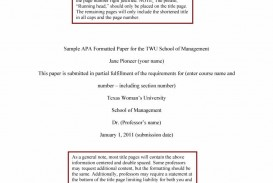 019 Apa Format Essay Template Example Stupendous Papers Examples Word 2010