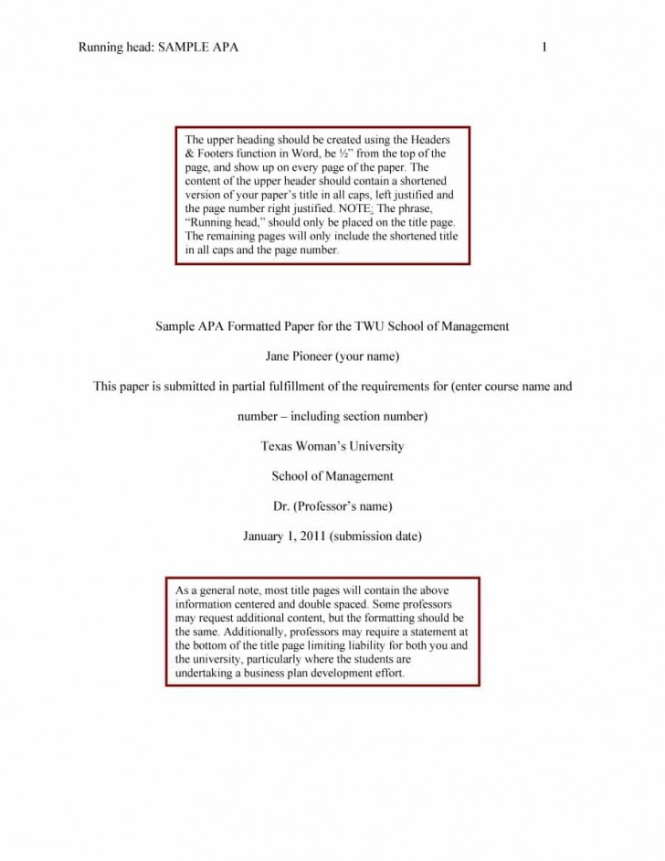 019 Apa Format Essay Template Example Stupendous Short Sample Title Page 6th Edition 728