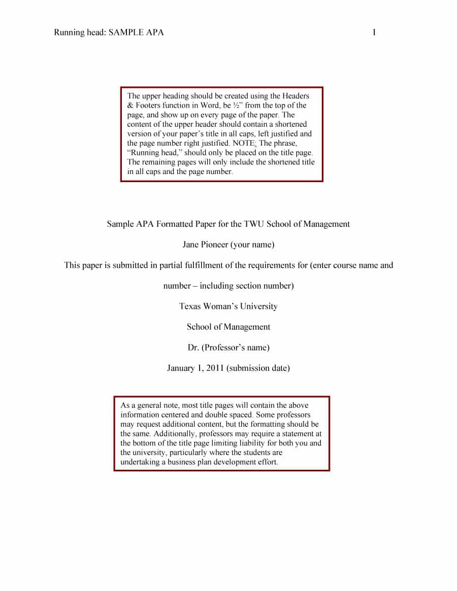 019 Apa Format Essay Template Example Stupendous Papers Examples Word 2010 Full