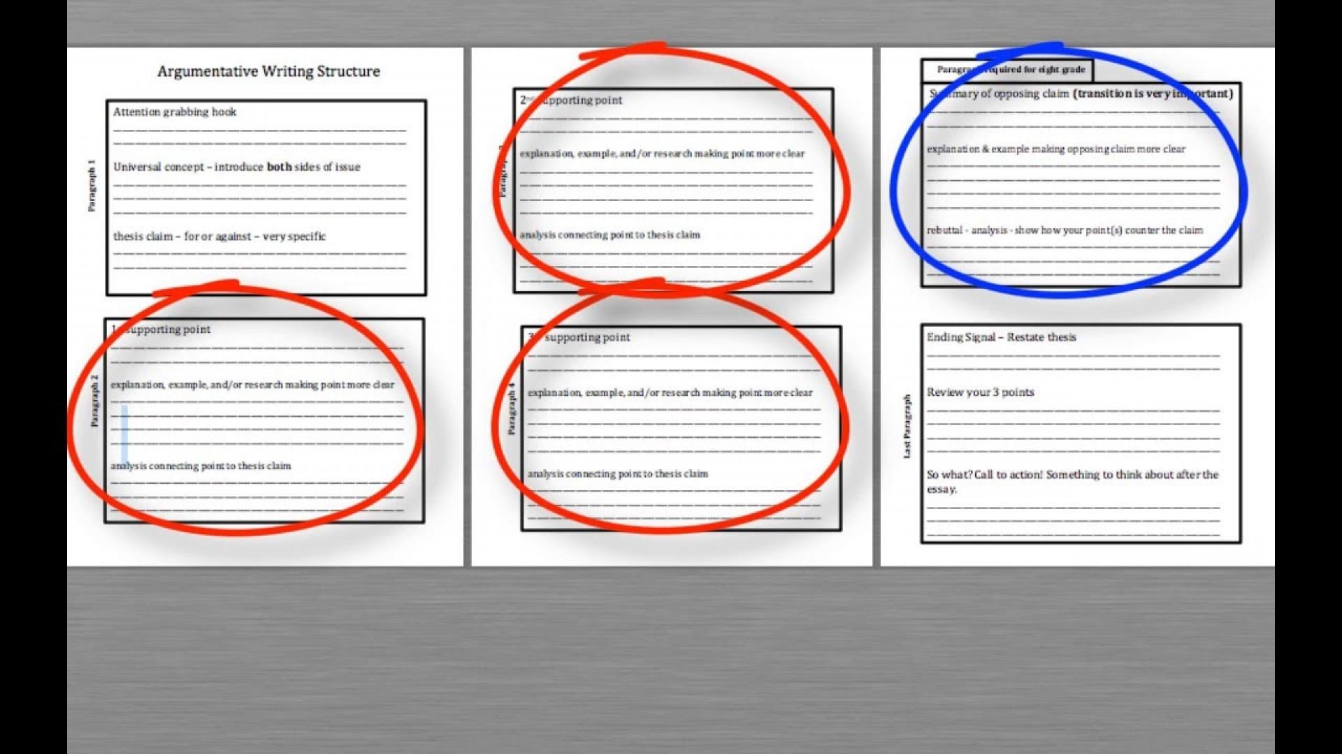 019 Argumentative Essay Structure Example Imposing Ppt Pdf Outline Worksheet 1920