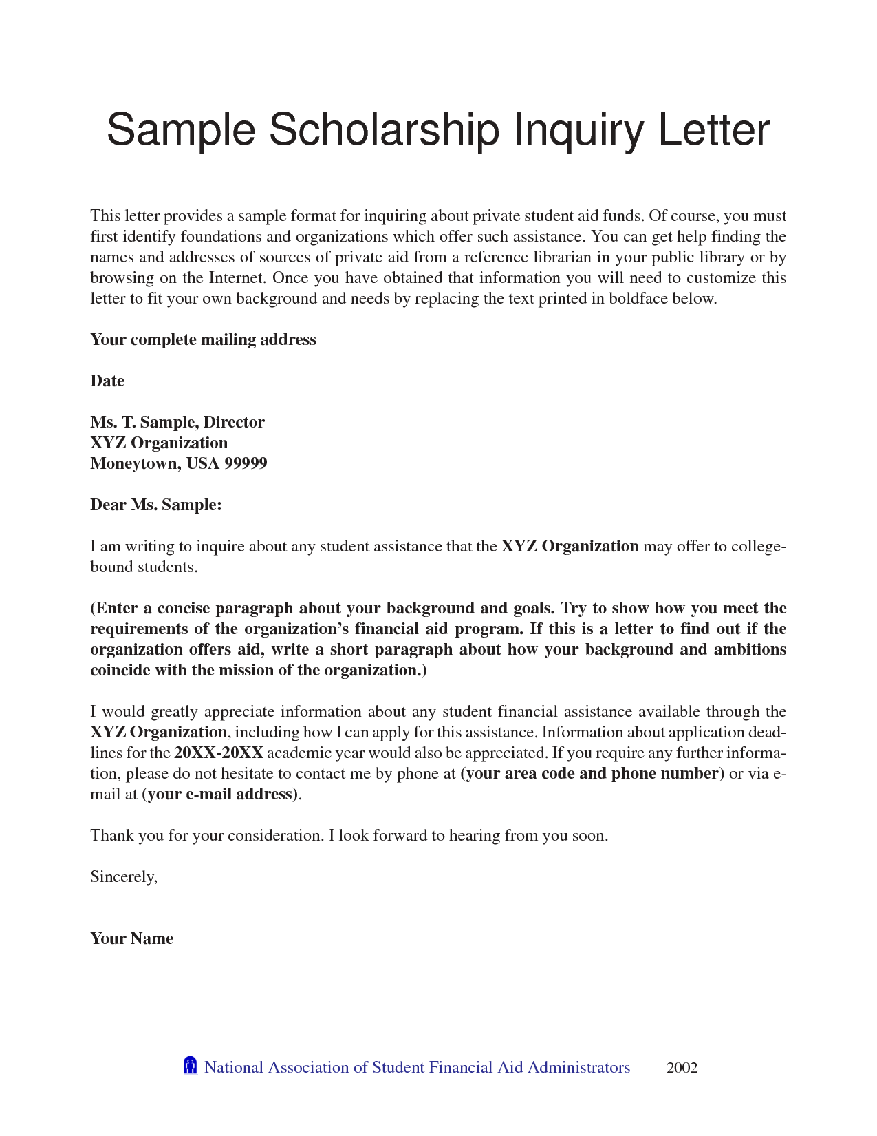 Recommendation Letter Sample For College Scholarship ...