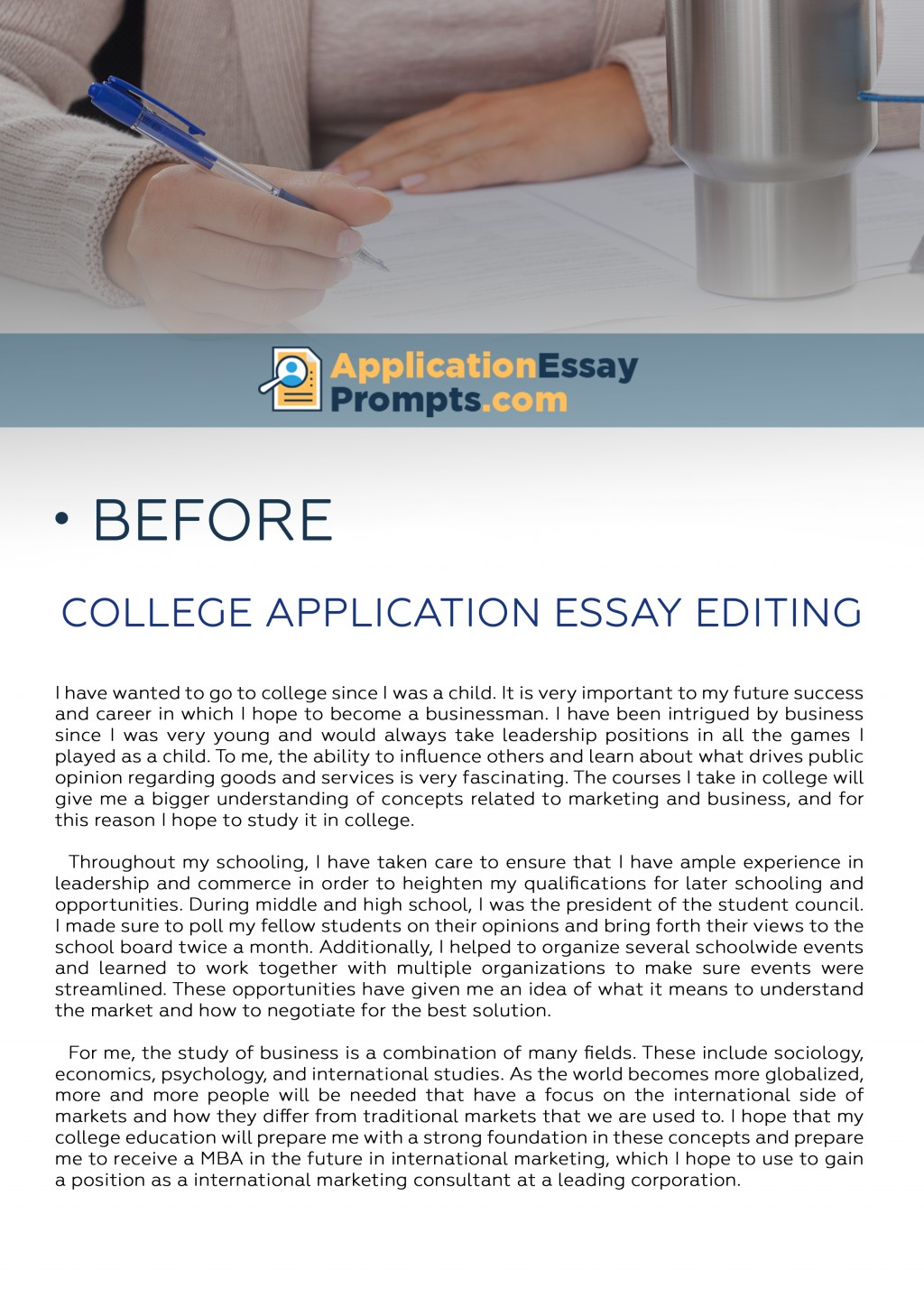 019 College Essay Editing Before Amazing Best Services Application Free Checklist Large