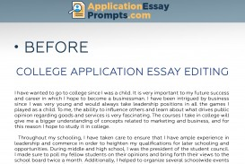 019 College Essay Editing Before Amazing Best Services Application Free Checklist