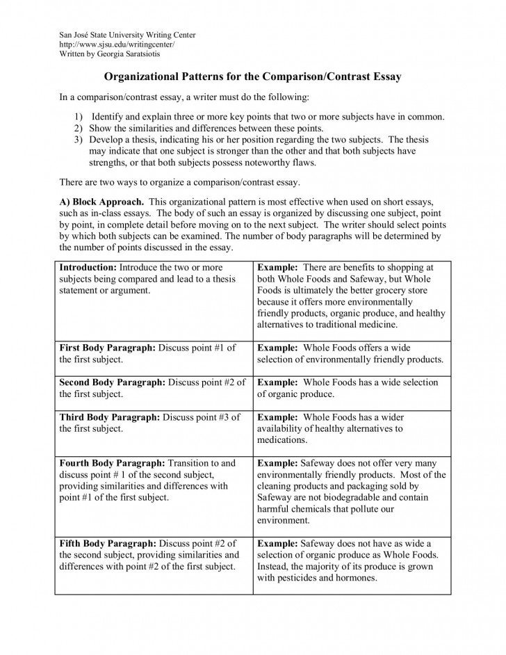 019 Compare Contrast Essay Fascinating Topics And Graphic Organizer Julius Caesar Answers High School 728