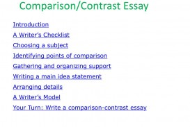 019 Comparison And Contrast Essay L Awful Examples Point-by-point Example