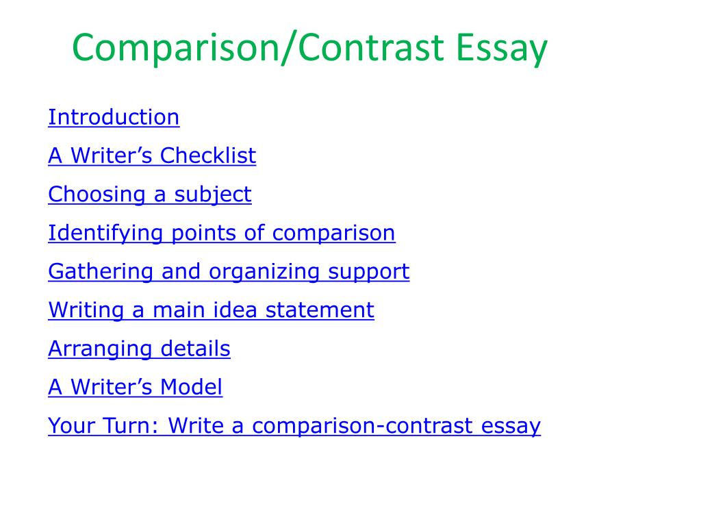 019 Comparison And Contrast Essay L Awful Topics List Thesis Statement Compare Means Full