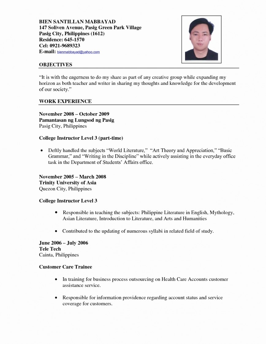 019 Cv Resume For Teachers Free Teacher Samples Common App Essay Format College Awful Guidelines 2018
