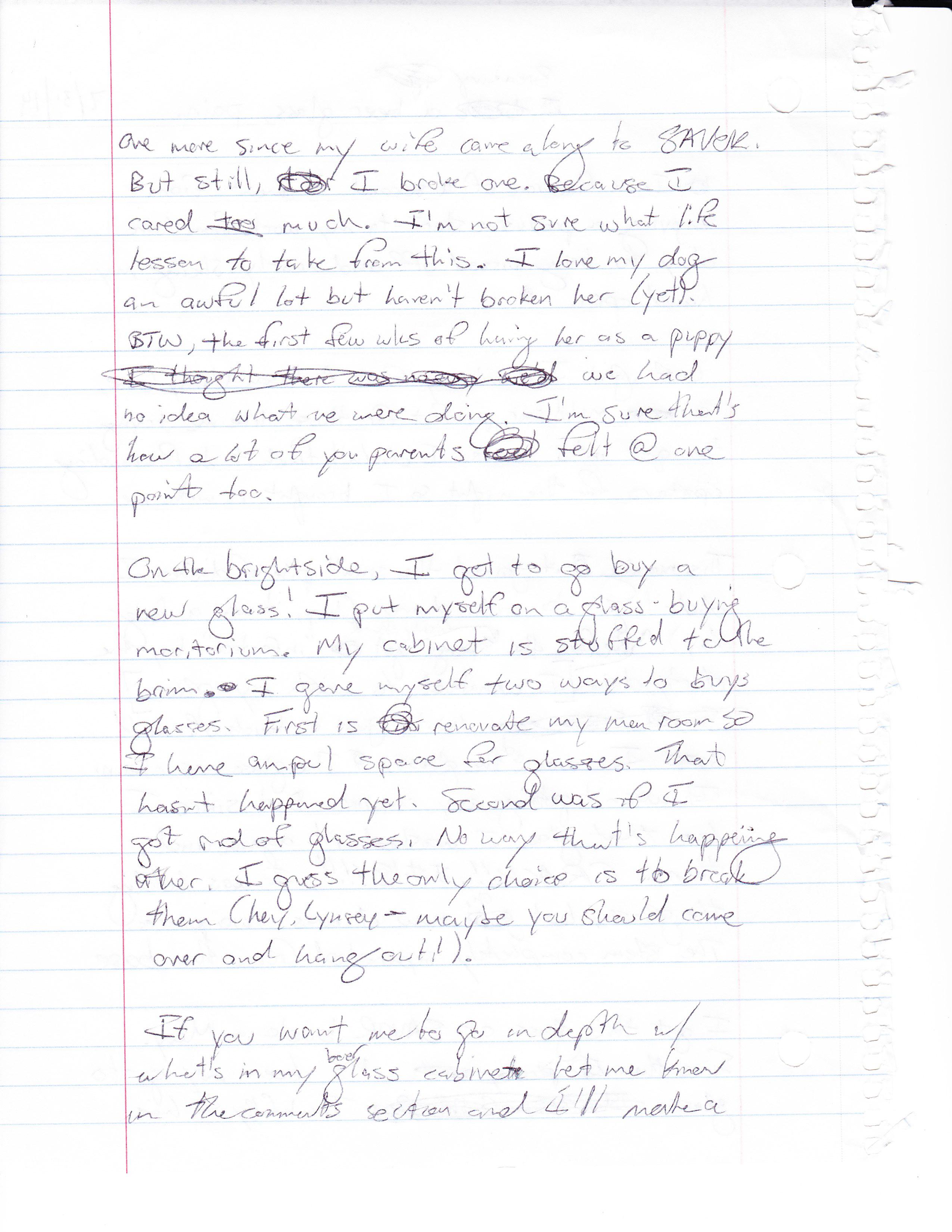 019 Essay Example Breakingabeerglass Handwritten2 Word Dreaded 1000 Pages Full