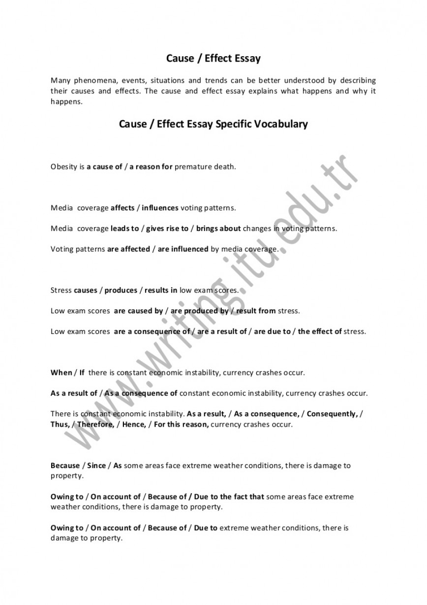 019 Essay Example Causeandeffectessay Thumbnail Cause And Effect Amazing Examples On Stress 4th Grade 868