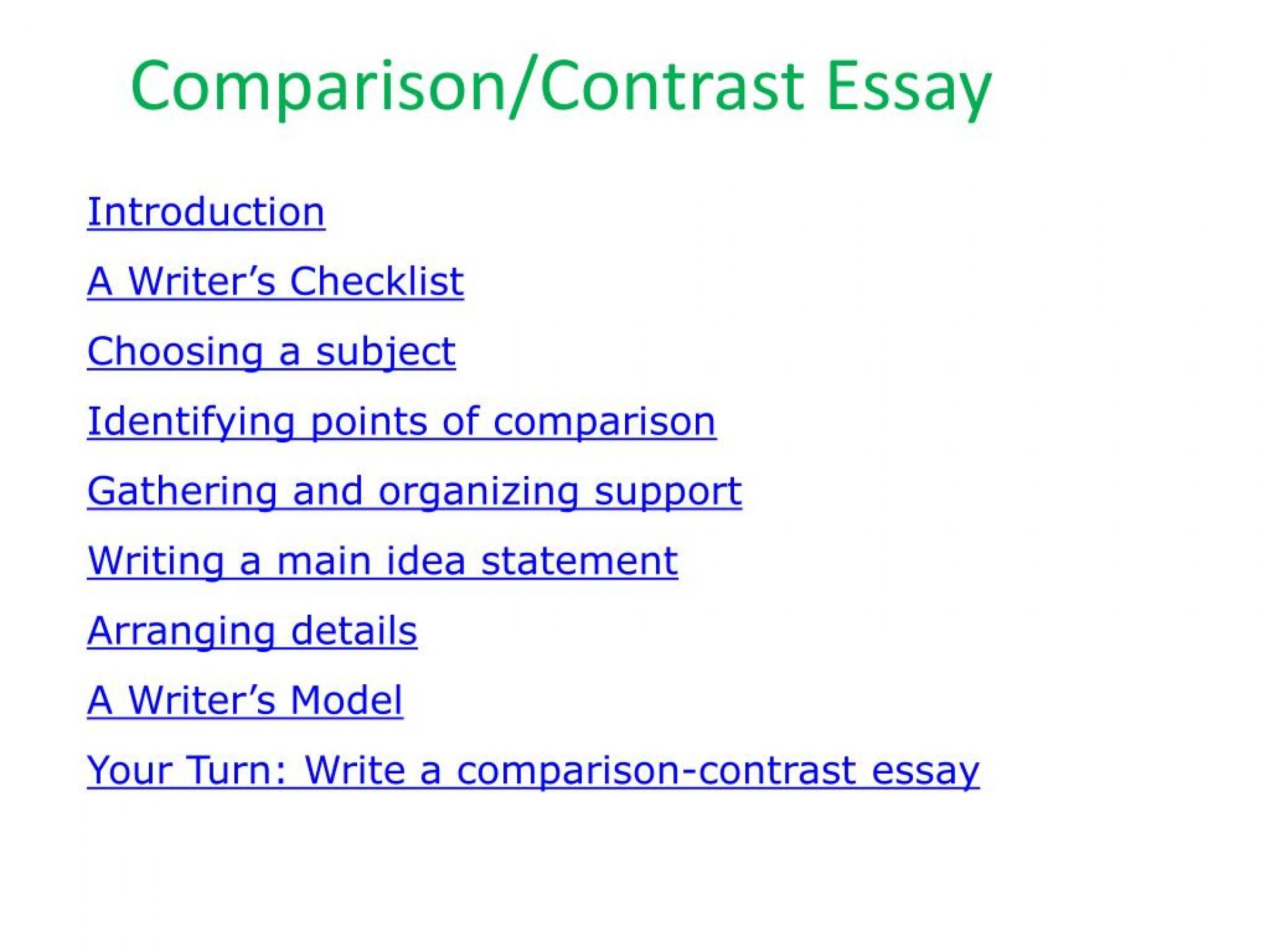019 Essay Example Comparison Contrast Beautiful Compare Format College Graphic Organizer Pdf Examples 1920