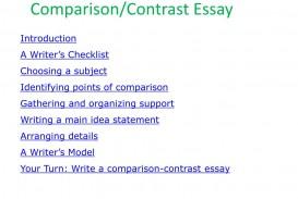 019 Essay Example Comparison Contrast Beautiful Compare Format College Graphic Organizer Pdf Examples