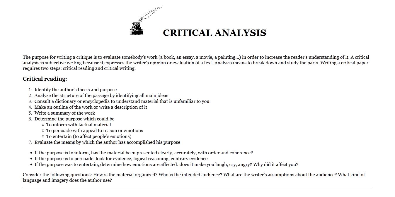 019 Essay Example Critical Analysis Definition Striking Literature Review Expository Full