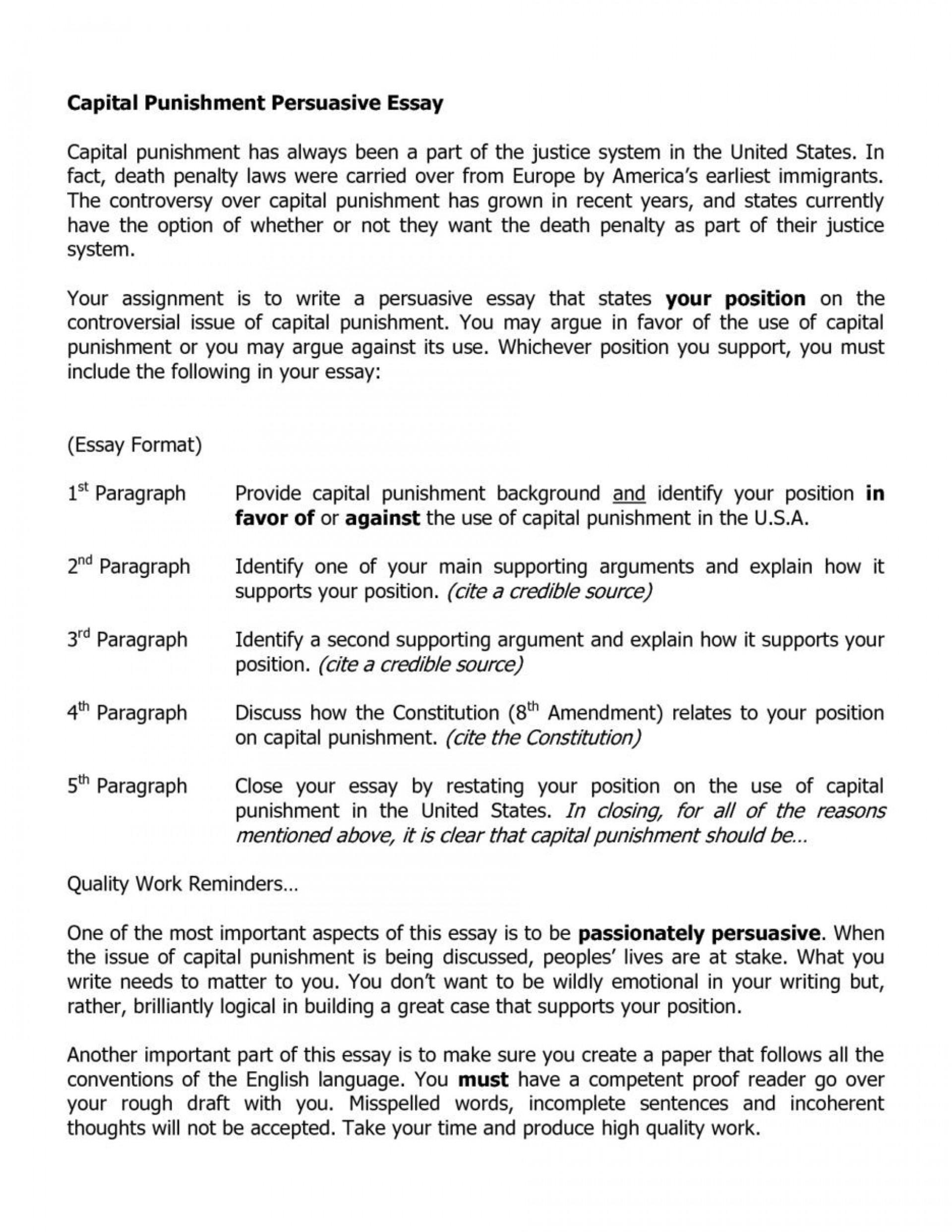 019 Essay Example Death Penalty Essays Dissertation Argumentative Sample Government Format For Or Againsthe Hook Persuasive Outline Introduction Conclusion Argumentsitles Sensational Anti Pro 1920