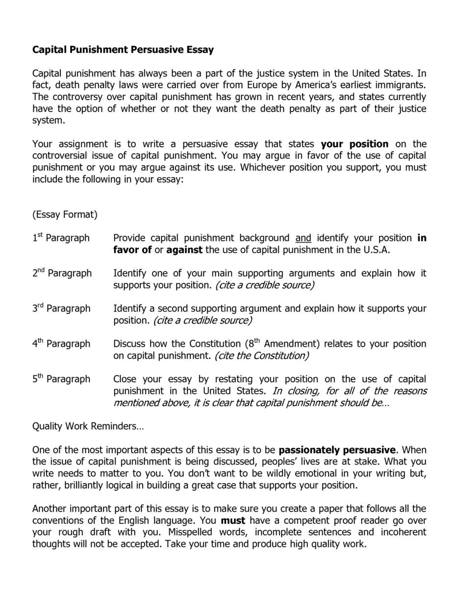019 Essay Example Death Penalty Essays Dissertation Argumentative Sample Government Format For Or Againsthe Hook Persuasive Outline Introduction Conclusion Argumentsitles Sensational Anti Pro Full