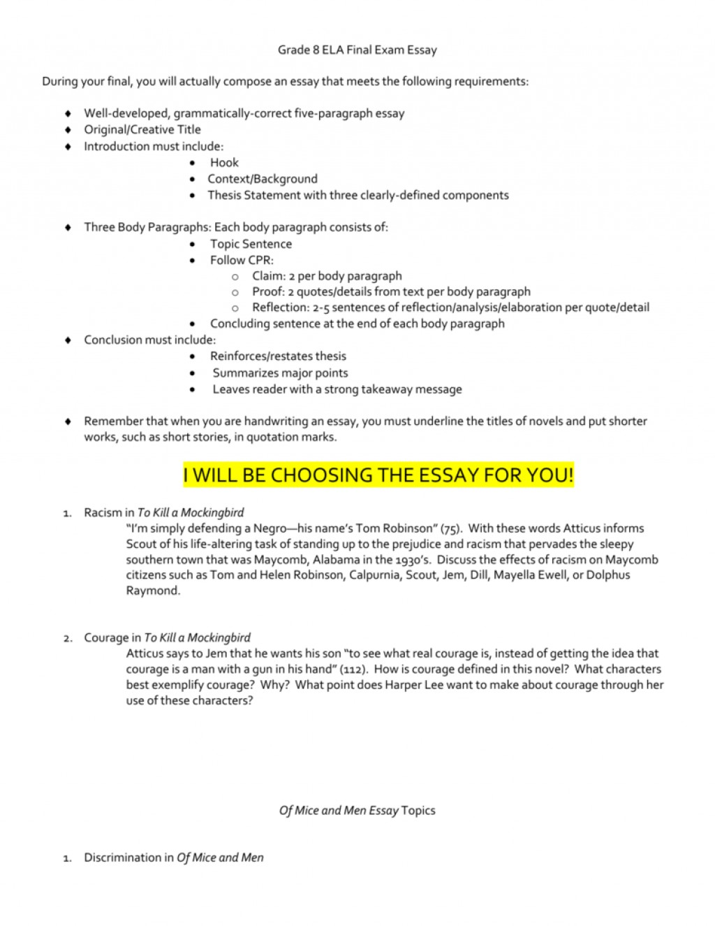 019 Essay Example Essays For Grade 008008940 1 Awesome 8 English 8th Graders Narrative Large