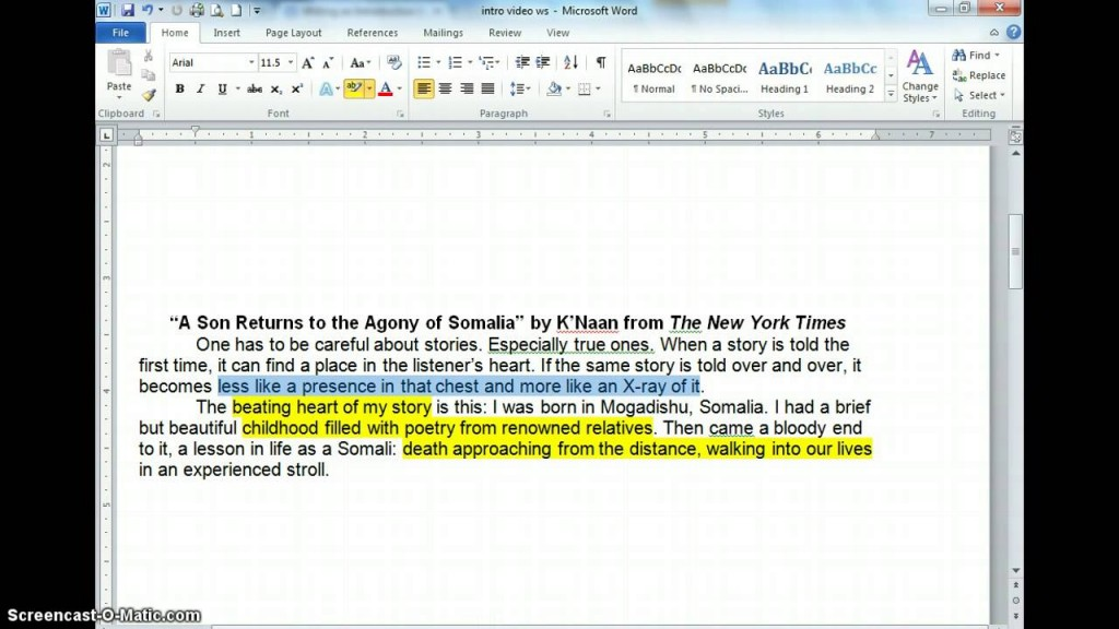 019 Essay Example How To Write An Introduction Paragraph For Best About Yourself A Book Informative Large