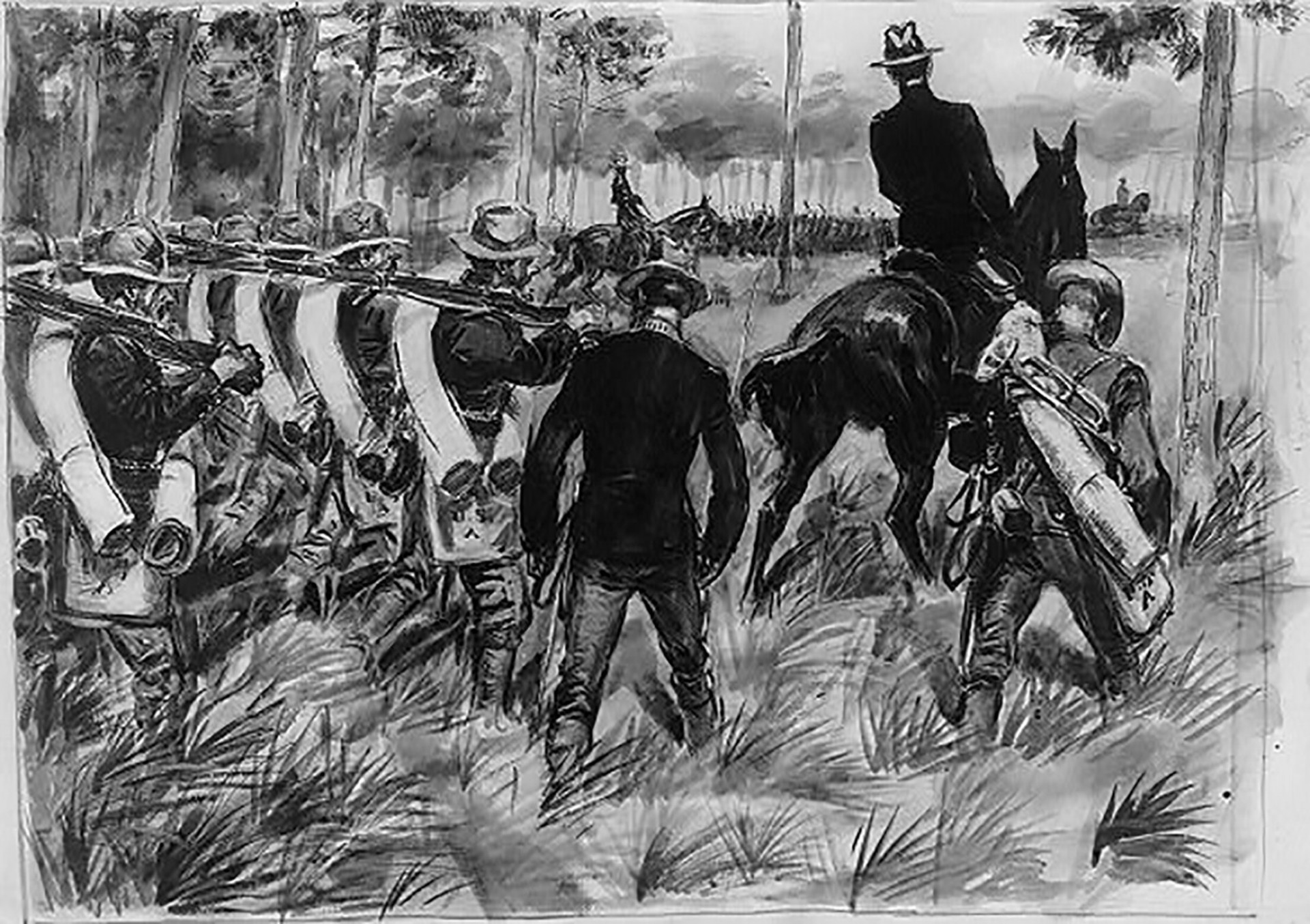 019 Essay Example Macarthur Spanish American War Troops On The March Contributor Glackens William J Loc 2000x1411 Q85 Crop Subsampling 2 Upscale Awful Causes And Effects Topics Questions 1920