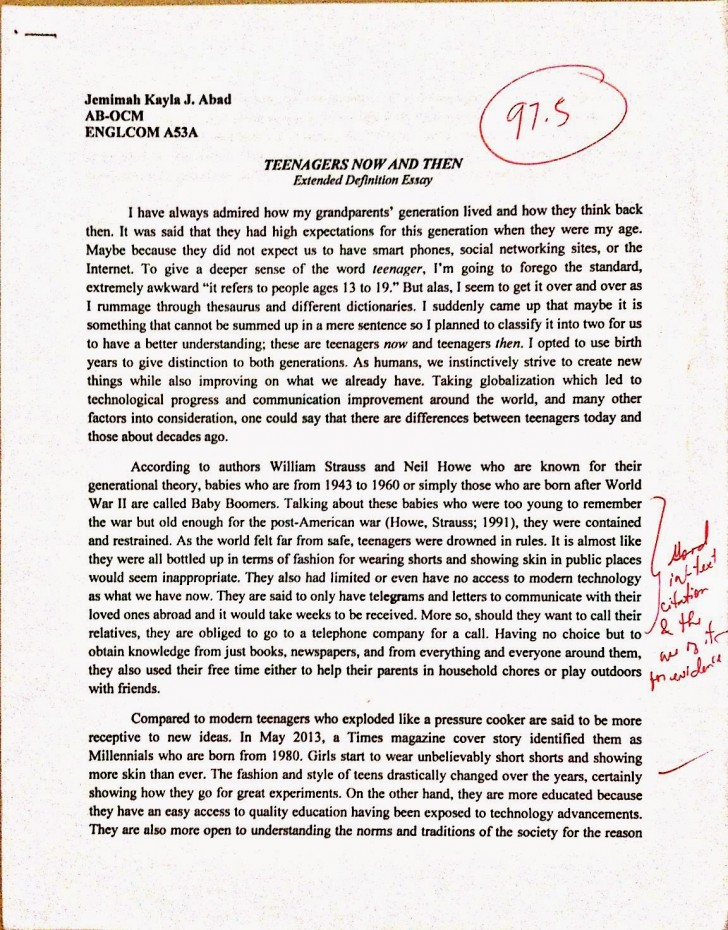 019 Essay Example Newdoc2 1 Cause And Dreaded Effect Samples Pdf Template Free 728