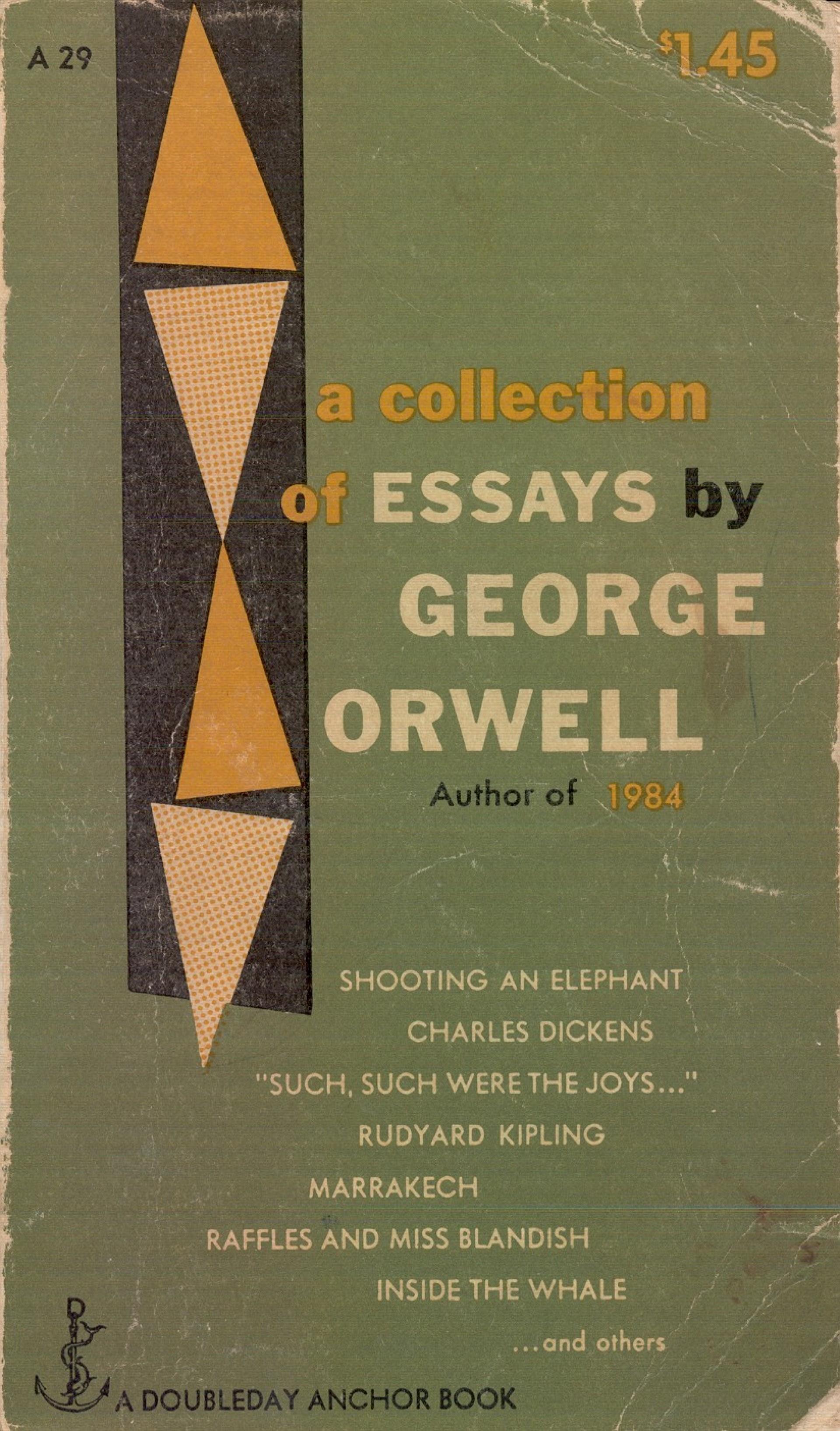 019 Essay Example Orwell George Frightening Essays Everyman's Library Summary Bookshop Memories 1920