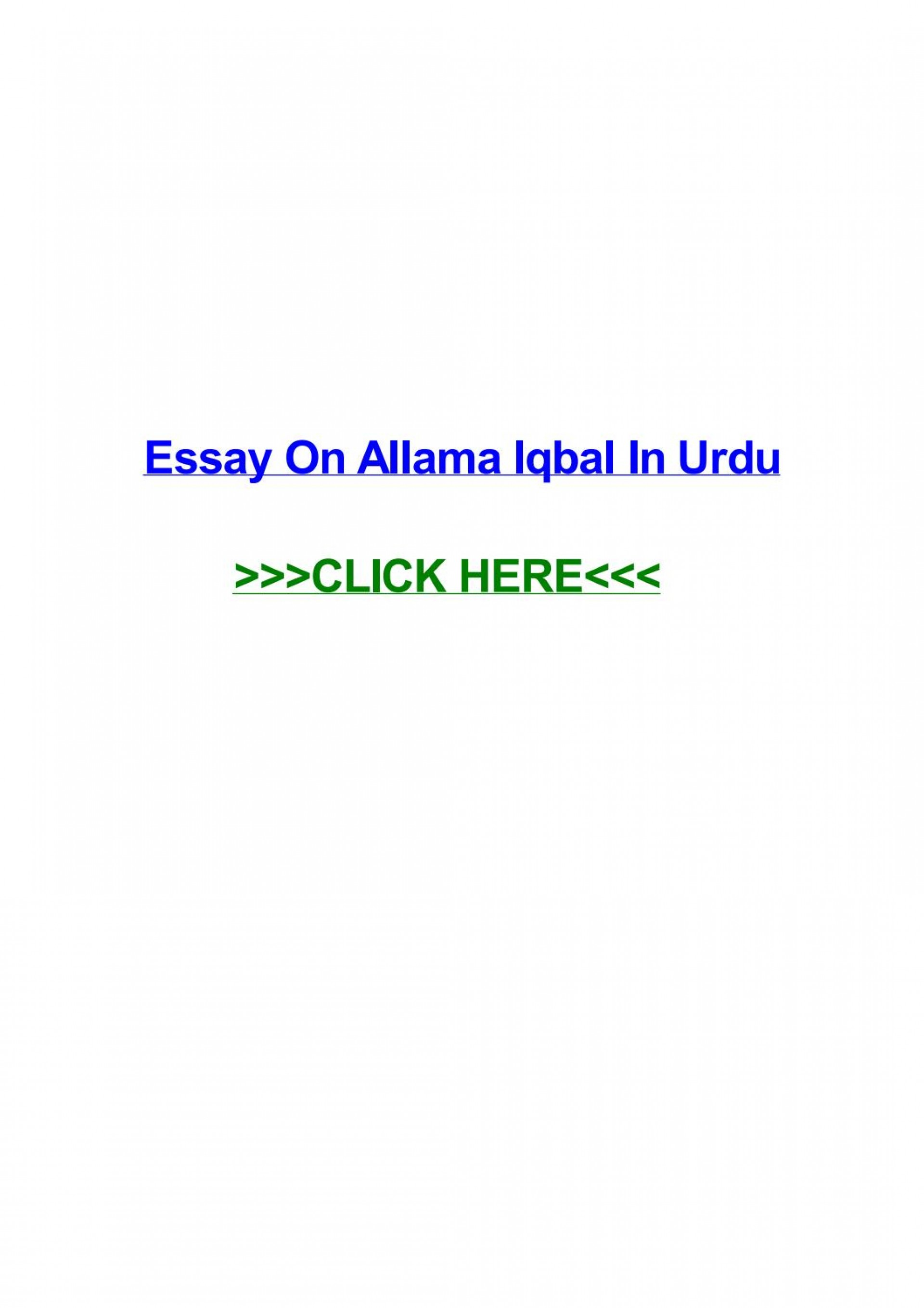 019 Essay Example Page 1 Urdu Allama Dreaded Iqbal On In For Class 10 With Poetry Ka Shaheen Headings And 1920