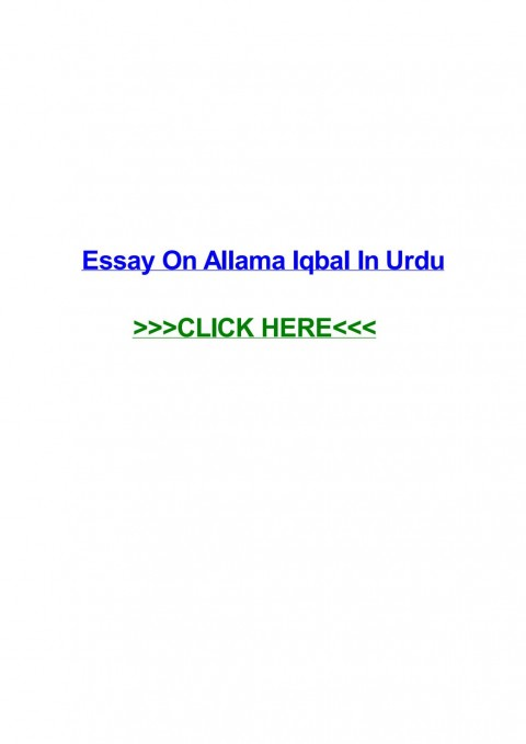 019 Essay Example Page 1 Urdu Allama Dreaded Iqbal On In For Class 10 With Poetry Ka Shaheen Headings And 480