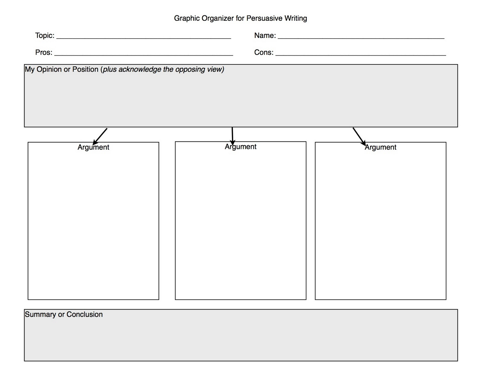 019 Essay Example Persuasive Writing Graphic Organizer Argumentative Impressive Pdf Middle School Full