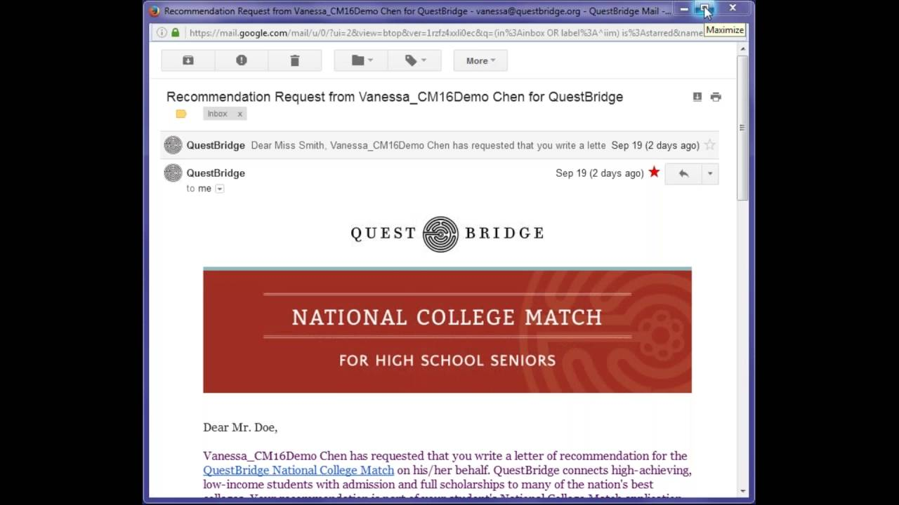 questbridge national college match essay prompts