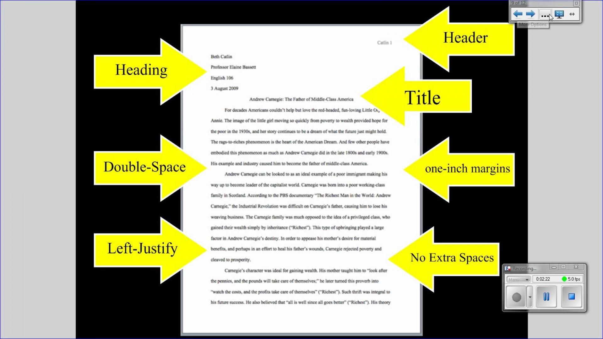 019 Essay Example Standard Format Mla Tutorial Basic Paper Formatting Youtube College L Impressive Apa Style Font Size 1920