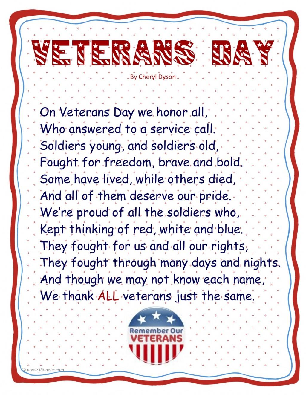 019 Essay Example Veteransdaypoembyjudybonzer3 Tuck Mba Marvelous Essays Sample Tips 2018 Large