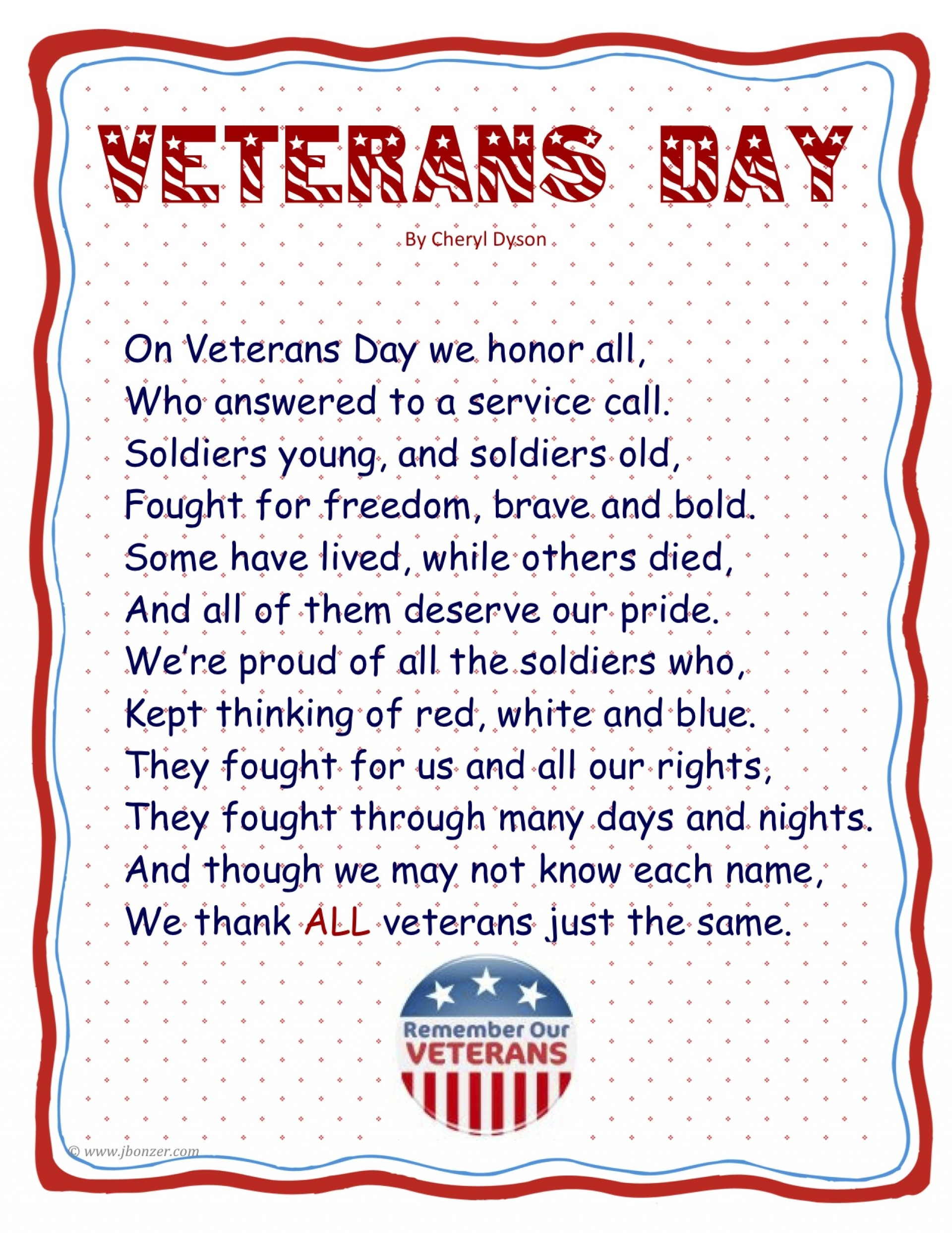 019 Essay Example Veteransdaypoembyjudybonzer3 Tuck Mba Marvelous Essays Sample Tips 2018 1920