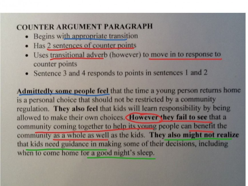 019 Essay Example What Is Counterclaim In An Argumentative Unusual A The Purpose Of Conclusion Paragraph