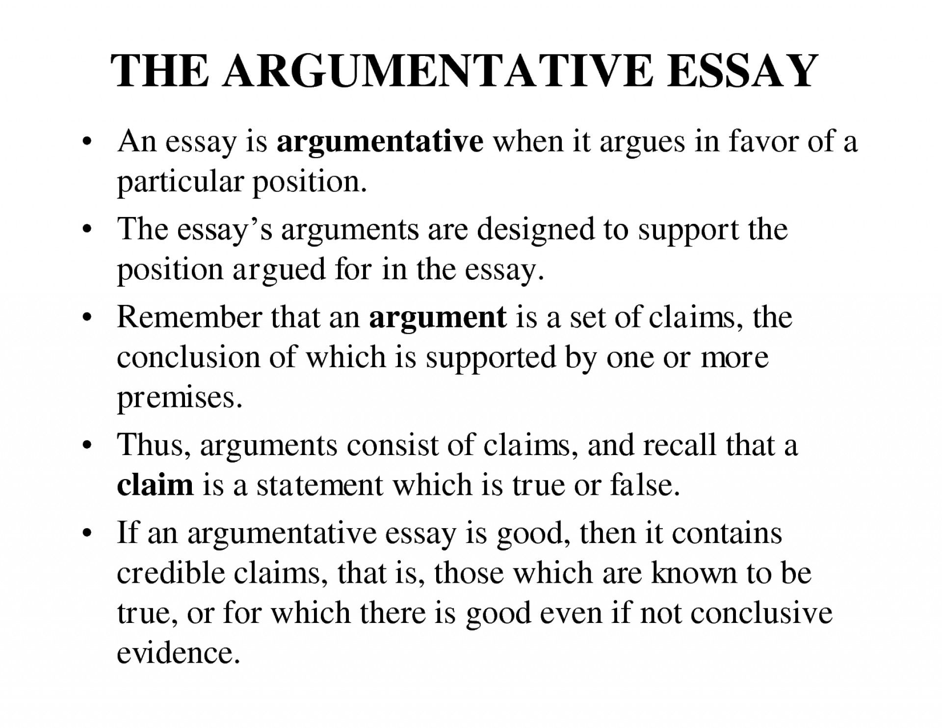 019 Essay Example Writing An Argument Outstanding Sample Argumentative Pdf Download Ppt Step By 1920