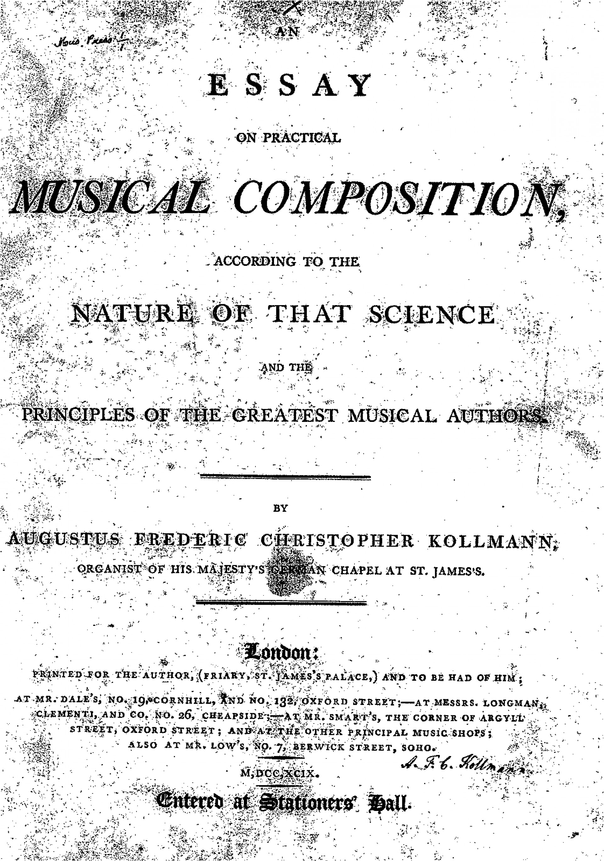 019 Essay On Music Example An Practical Composition Kollmann Us Piano College Marvelous Musical Instruments Importance Of Culture And 1920