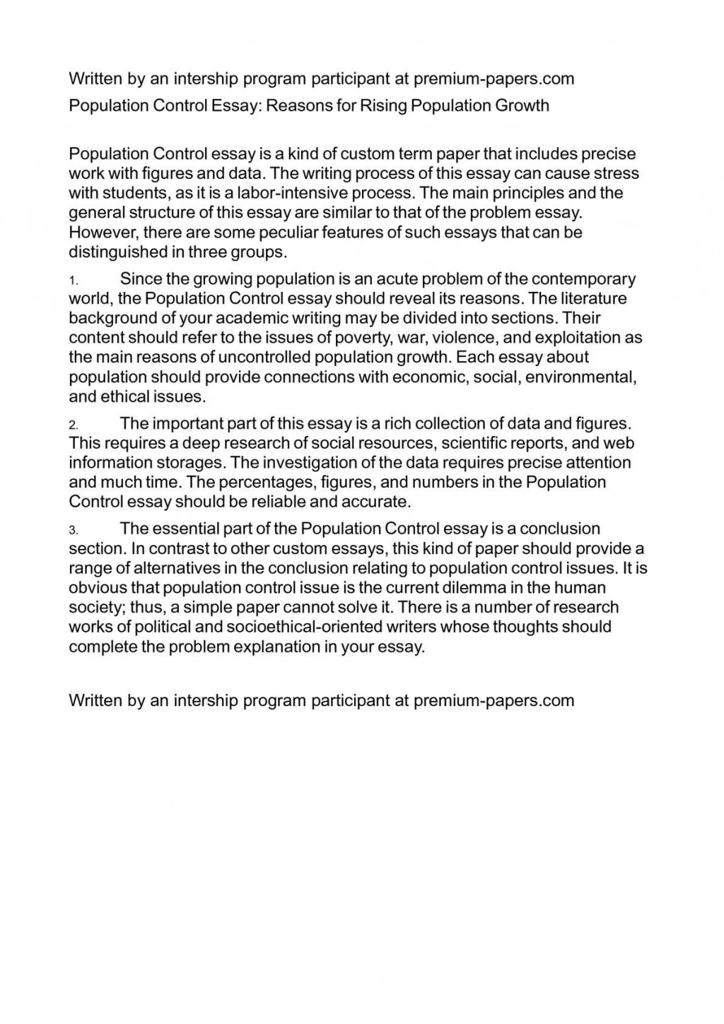 Long and Short Essay on Population in English for Children and Students