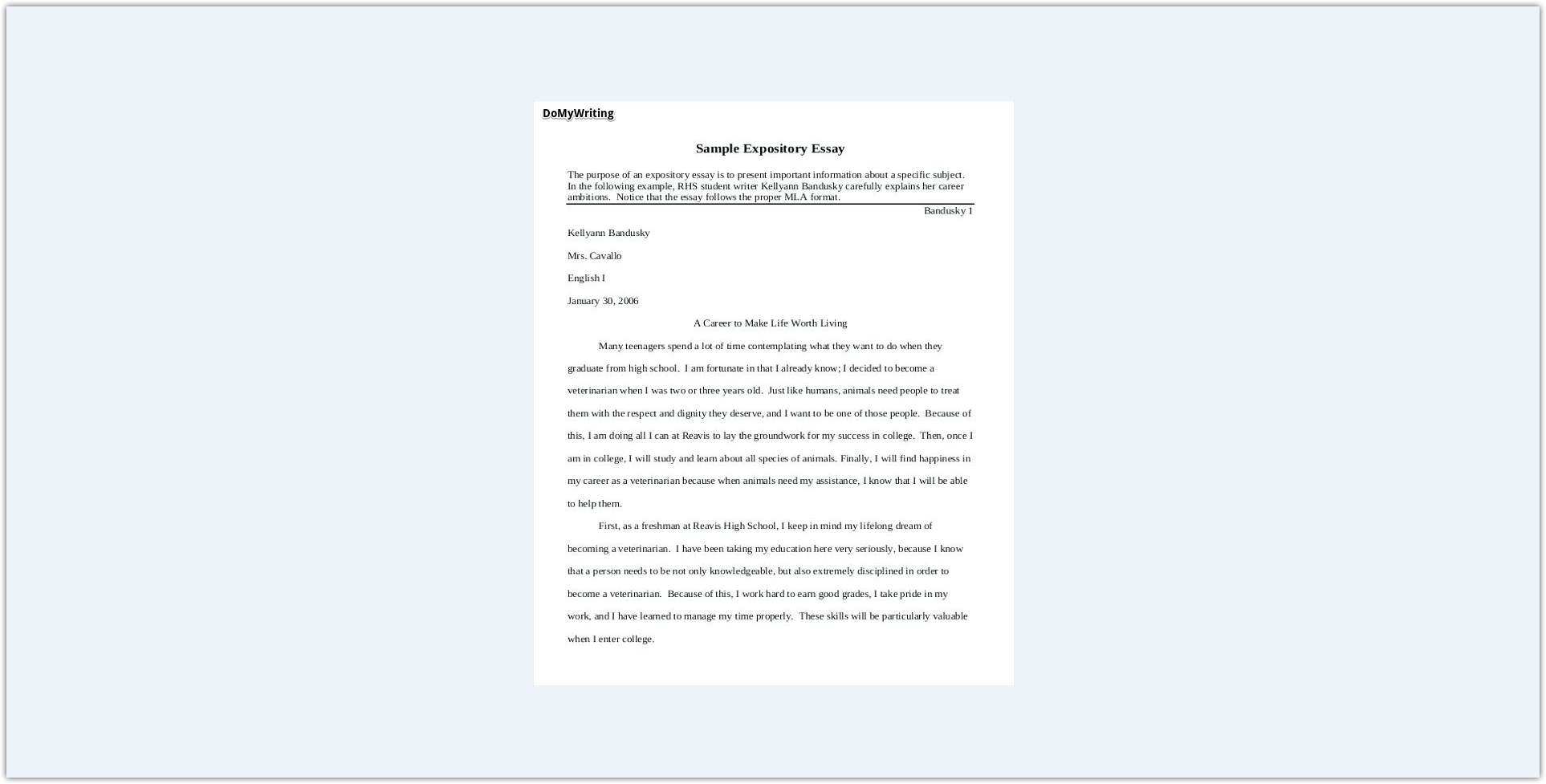 019 Expository Essay Samples Impressive Theme Examples High School For 7th Grade Full