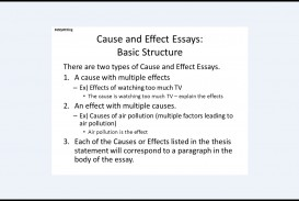 019 Good Cause And Effect Essay Topics Structure Phenomenal For High School Students College