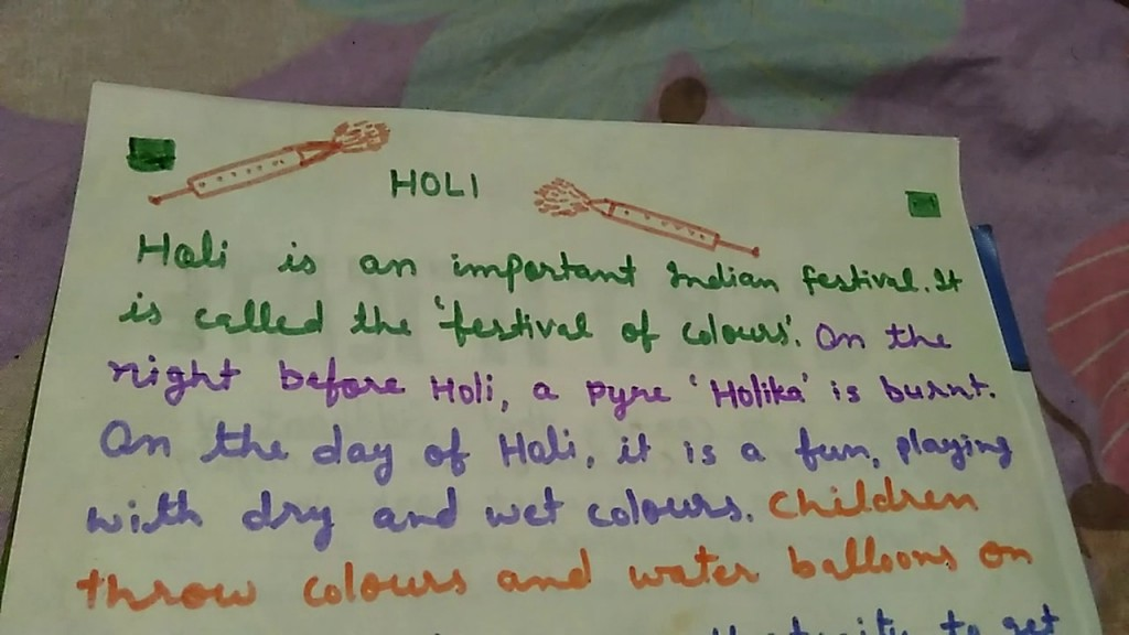 019 Holi Festival Essay Example Top Of Colours In Hindi Punjabi Language For Class 2 Large