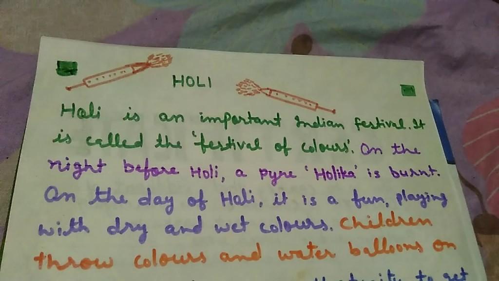 019 Holi Festival Essay Example Top In Punjabi Large