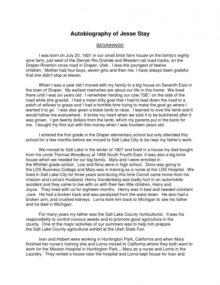 019 How To Write Autobiography Essay Samples 87168 Exceptional A An Introduction Autobiographical For College Grad School 728