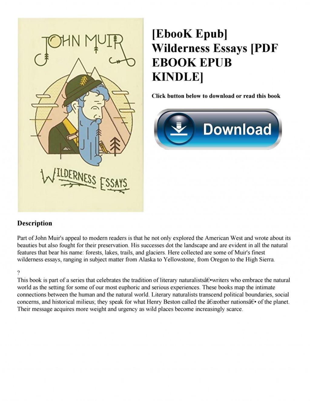 019 John Muir Wilderness Essays Page 1 Essay Best Pdf Review Large