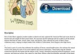 019 John Muir Wilderness Essays Page 1 Essay Best Pdf Review