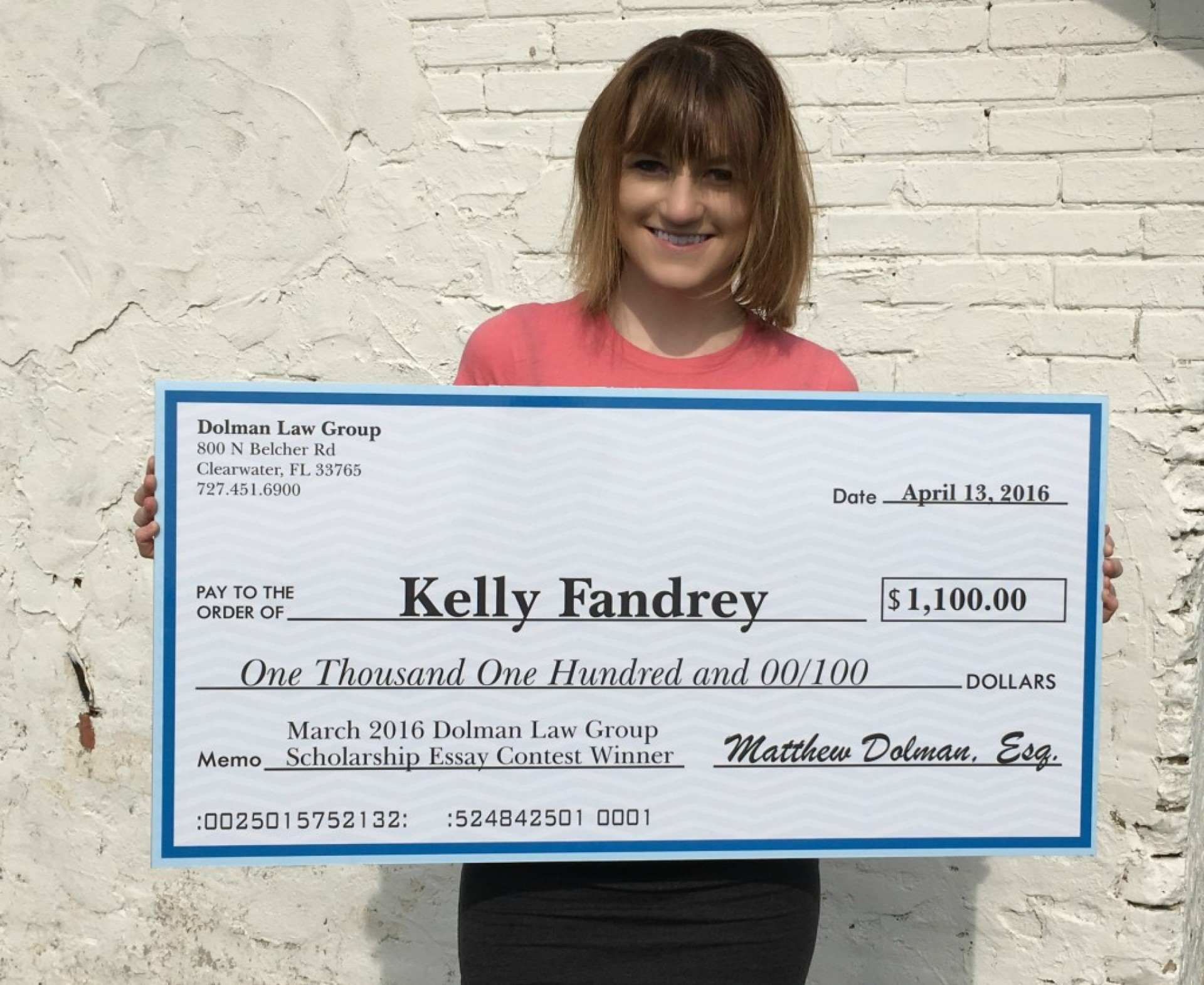 019 Kelly Fandrey 1024x838 Scholarship Essay Contest Astounding Contests For High School Students 2019 Middle 1920