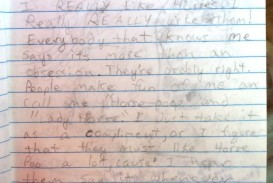 019 Lisa Childhood Drawinghorses Catw Essay Stunning Example Examples