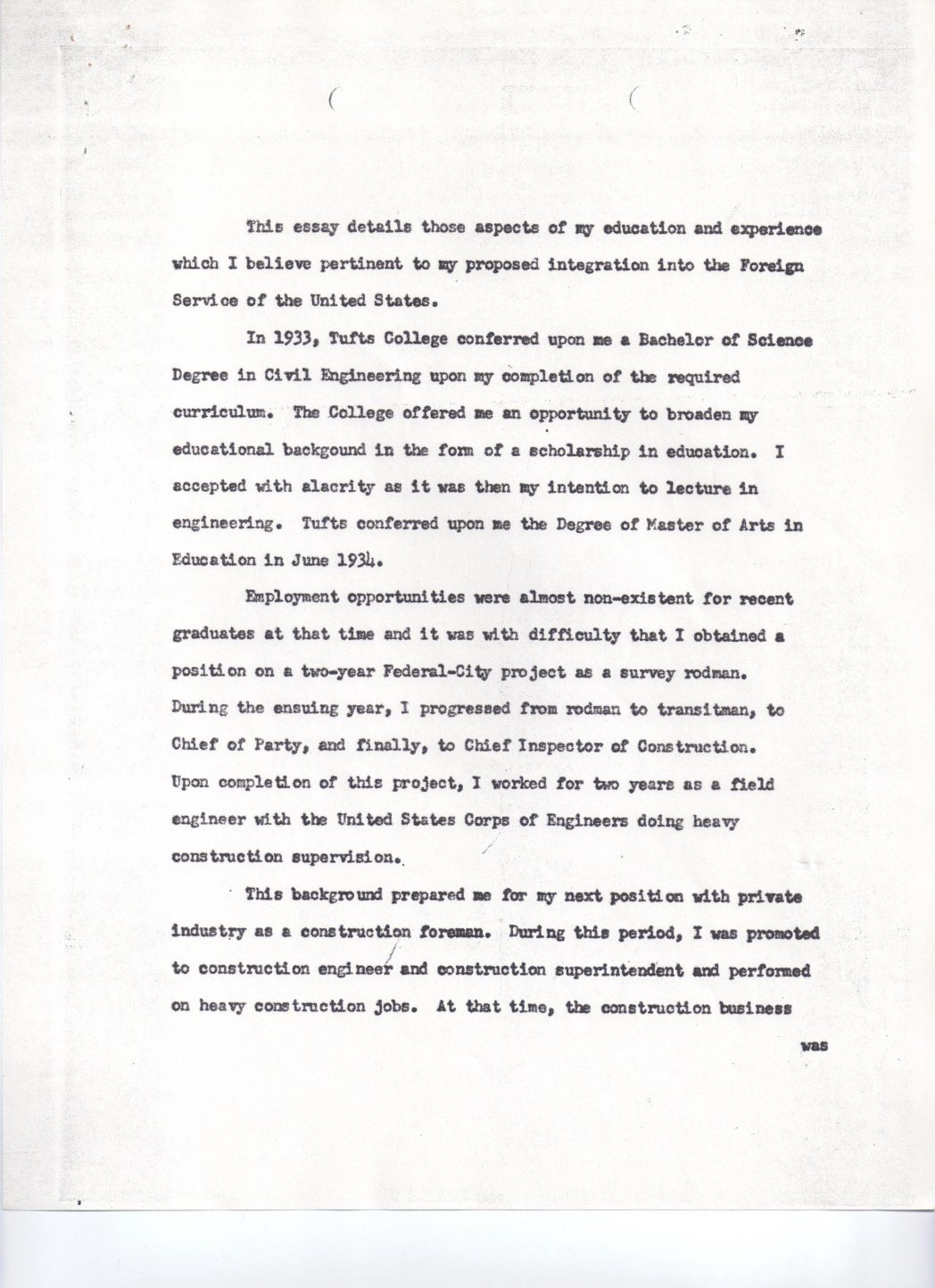 019 Need Of Education Essay Georgetown School Foreign Service Bud Uanna November 19 1956 P College About Being Shy 1048x1443 Remarkable Word Limit Supplement Examples Full