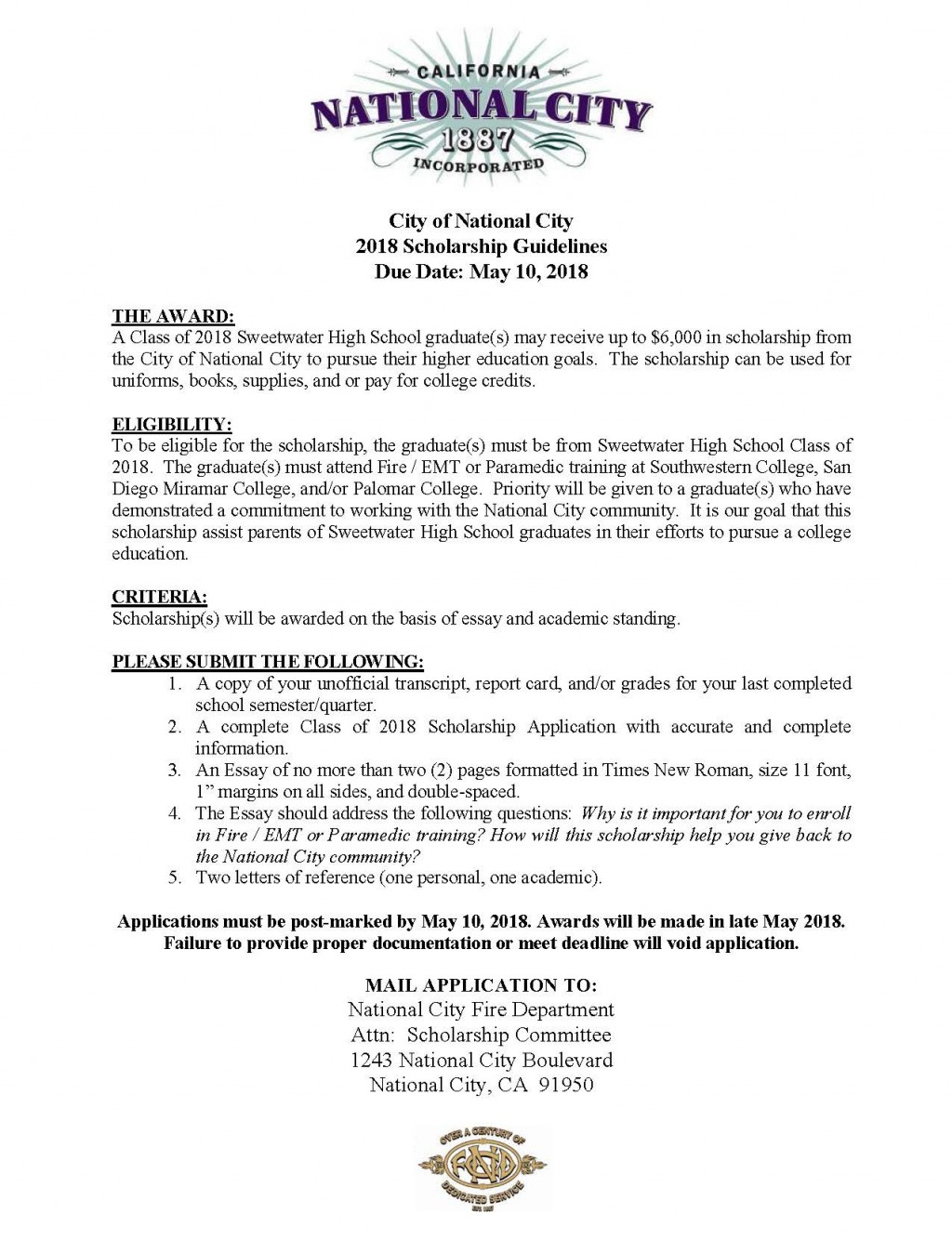 019 No Essay Scholarships For College Students Example Get National City Showimageid4967t6365912738803 Awful 2019 Large