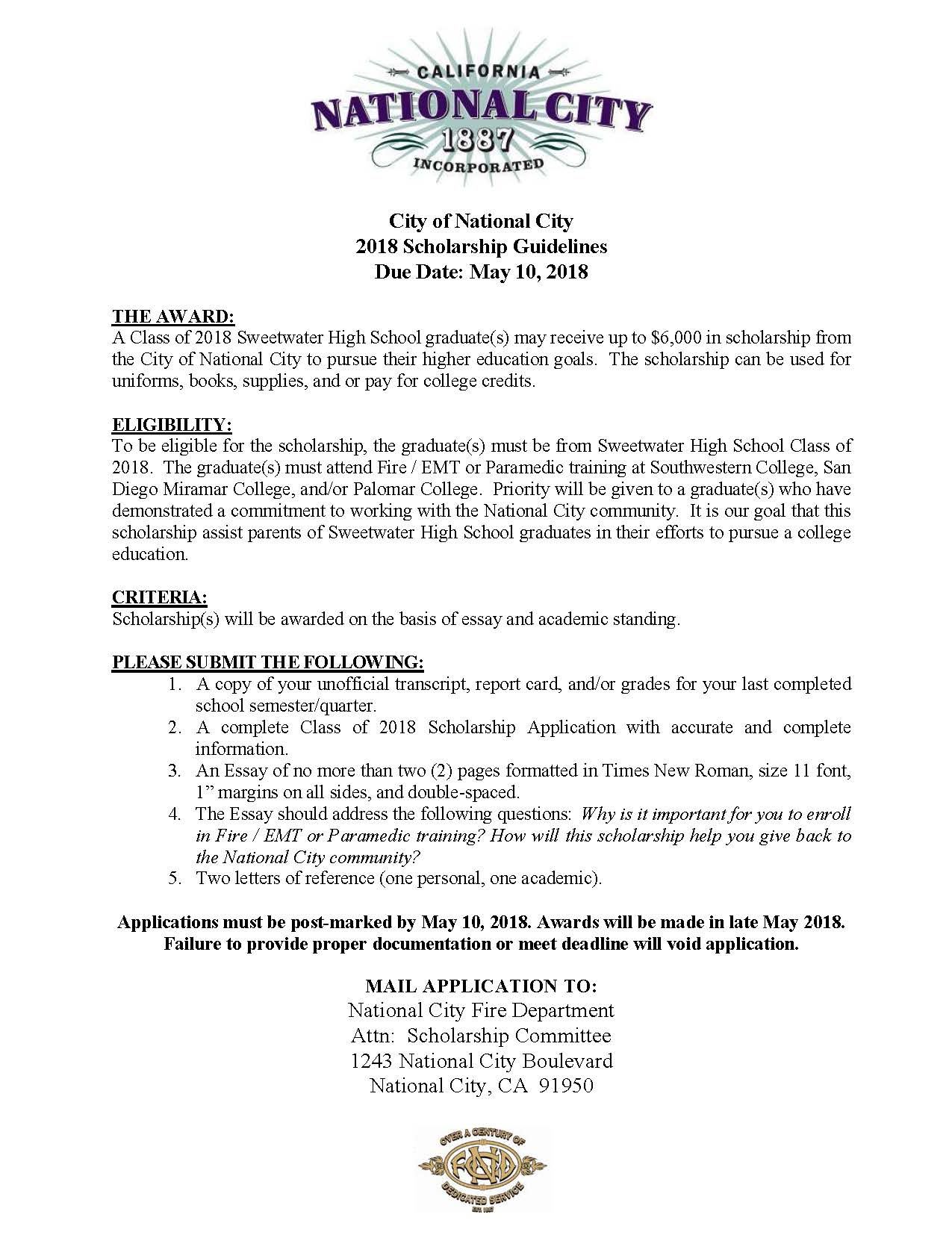 019 No Essay Scholarships For College Students Example Get National City Showimageid4967t6365912738803 Awful 2019 Full