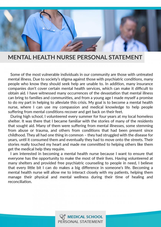 019 Nursing Personal Essay Statement Mental Health Stupendous School Goals For