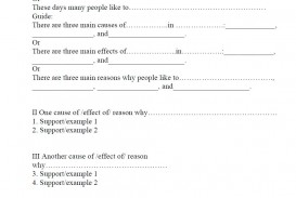 019 Outline And Essay Cause Effect Sample Impressive Template For Compare Contrast Printable