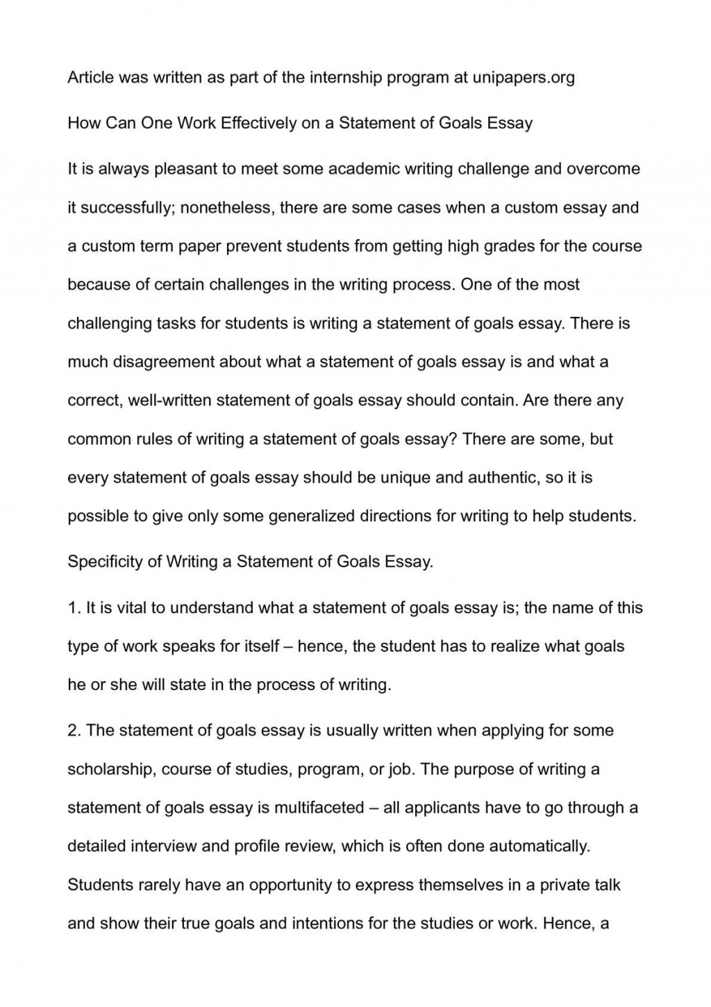 019 P1 Essay Example About Awesome Goals In High School After Career Life Large